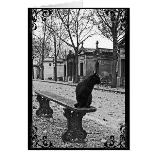 Cemetery Black Cat Gothic Victorian Card