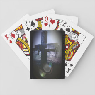 Cemetery Cross Playing Cards, Standard Index faces Poker Deck