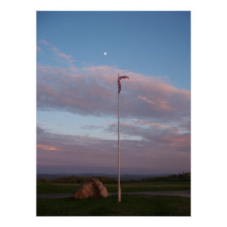 Cemetery Flag at Dusk Posters
