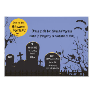 Cemetery Halloween Invitation