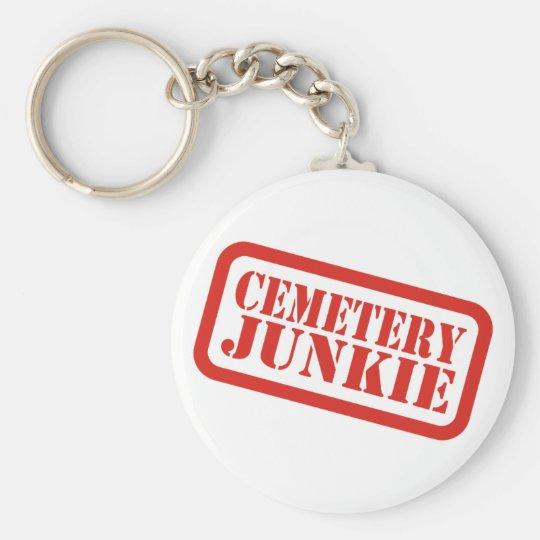 Cemetery Junkie Basic Round Button Key Ring