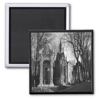 Cemetery Mausoleum Gothic magnet Fridge Magnet