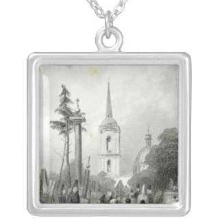 Cemetery of the Smolensko Church Silver Plated Necklace