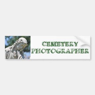 Cemetery Photographer bumper sticker