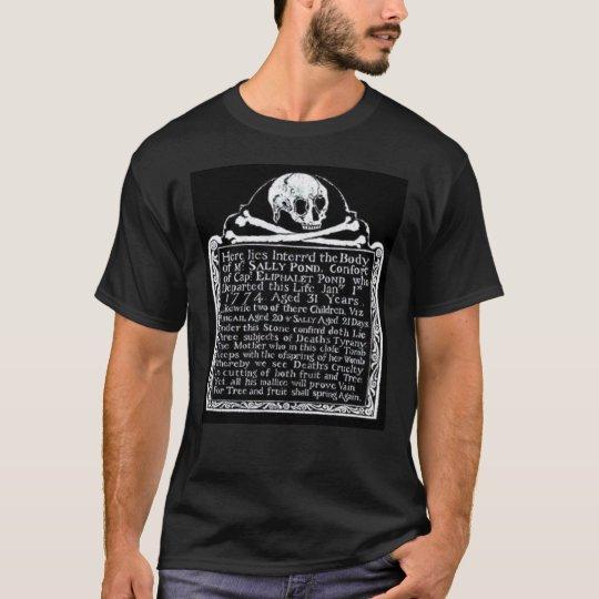Cemetery Skull Gravestone T-shirt