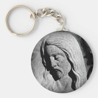 Cemetery Statue of Christ Key Chain