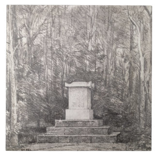 Cenotaph to Sir Joshua Reynolds at Coleorton Hall, Large Square Tile