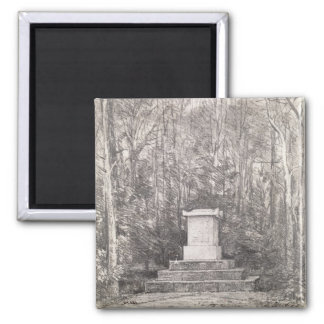 Cenotaph to Sir Joshua Reynolds at Coleorton Hall, Square Magnet