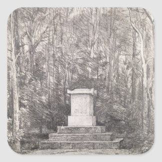 Cenotaph to Sir Joshua Reynolds at Coleorton Hall, Square Sticker