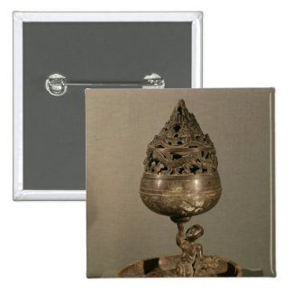 Censer in the shape of 'po-shan-lu' 15 cm square badge