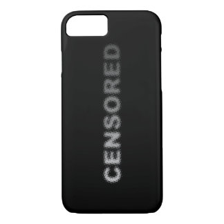 CENSORED (light to dark grey) iPhone 7 Case