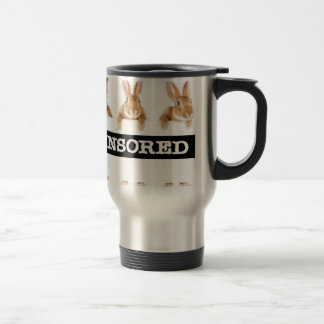 censored rabbit stainless steel travel mug