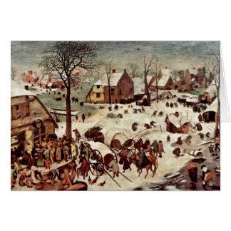 Census At Bethlehem  By Bruegel D. Ä. Pieter Greeting Card