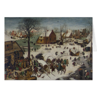 Census at Bethlehem by Pieter Bruegel Card