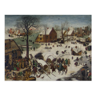 Census at Bethlehem by Pieter Bruegel Postcard