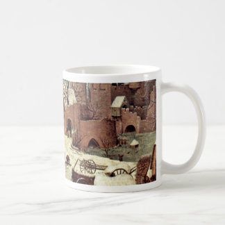 Census At Bethlehem, Detail By Bruegel D. Ä. Piete Classic White Coffee Mug