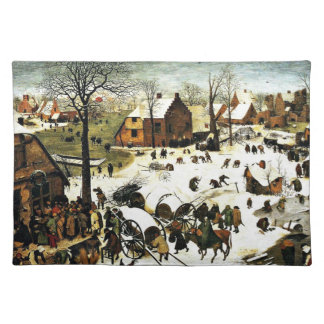 Census at Bethlehem, Pieter Bruegel the Elder art Placemat