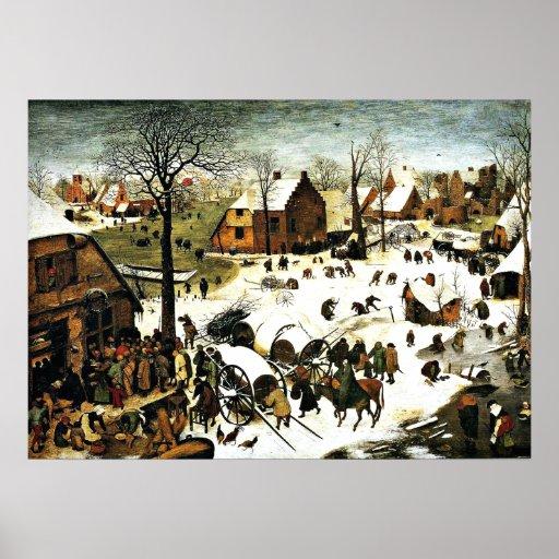 Census at Bethlehem, Pieter Bruegel the Elder art Print