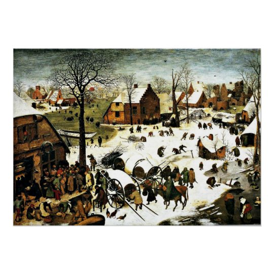 Census at Bethlehem, Pieter Bruegel the Elder art