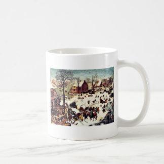 Census in Bethlehem Basic White Mug