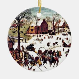 Census in Bethlehem Christmas Ornament