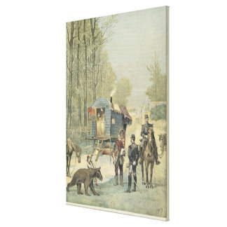 Census of Travellers in France Canvas Print