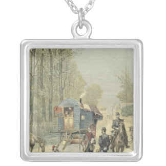 Census of Travellers in France Silver Plated Necklace