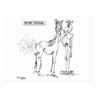 Centaur Cartoon 1036 Postcard
