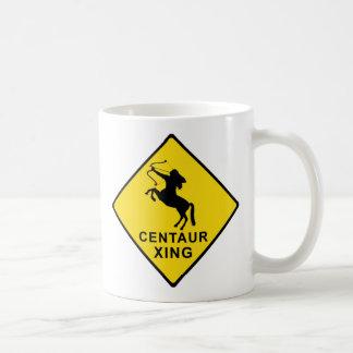 Centaur Crossing - sign Coffee Mug