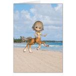 Centaur on Beach Greeting Cards