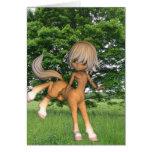 Centaur Playing  Greeting Card