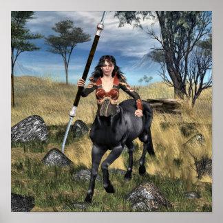 Centaur Warrioress Poster