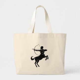 Centaur With Bow and Arrow Large Tote Bag