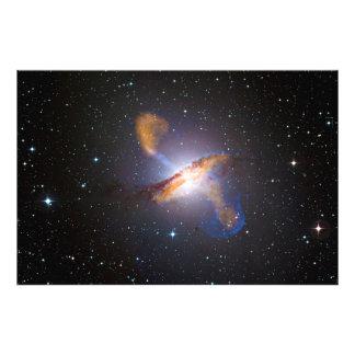 Centaurus A Shows a Supermassive Black Holes Power Photo Art