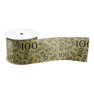 Centenarian 100th Birthday Party Theme Satin Ribbon