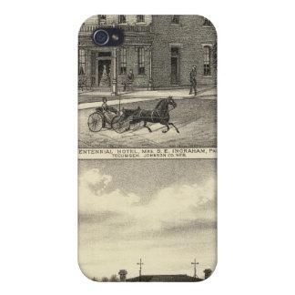 Centennial Hotel, Tecumseh, and Neb, Nebraska iPhone 4 Cover