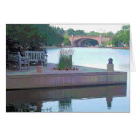 "Centennial Lakes Park ""Benches & Bridge"" Edina, MN Greeting Card"