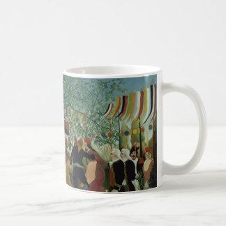 Centennial of Independence by Henri Rousseau Basic White Mug