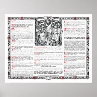 Center Altar Card Print