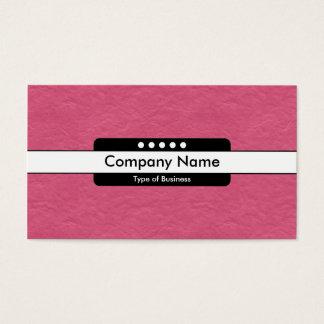 Center Band 5 Spots - Crimson Paper Texture