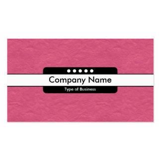 Center Band 5 Spots - Crimson Paper Texture Business Card