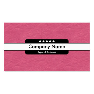 Center Band 5 Spots - Crimson Paper Texture Pack Of Standard Business Cards