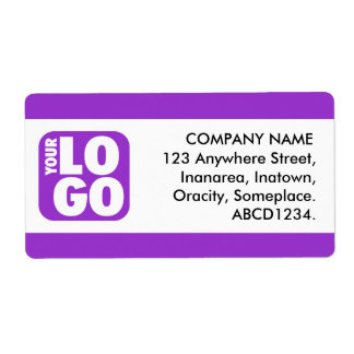 Center Band - Magestic Purple Shipping Label