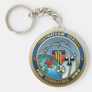 Center for Combating Weapons of Mass Destruction Basic Round Button Key Ring