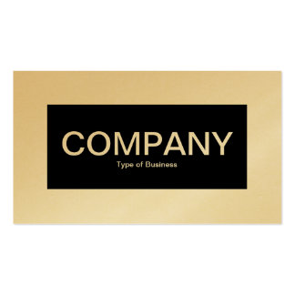 Center Label - Black with White (Gold Card) Pack Of Standard Business Cards