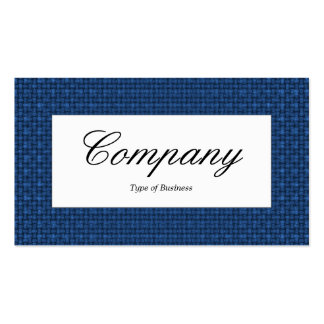 Center Label - Blue Fabric Texture Pack Of Standard Business Cards