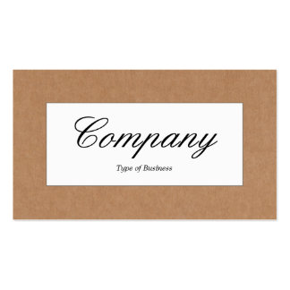 Center Label - Cardboard Box Texture Pack Of Standard Business Cards