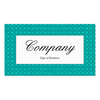 Center Label - Cyan Fabric Texture Pack Of Standard Business Cards