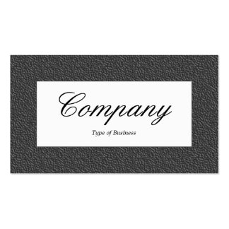 Center Label - Dark Gray Embossed Texture Pack Of Standard Business Cards