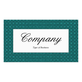 Center Label - Dark Turquoise Fabric Texture Pack Of Standard Business Cards
